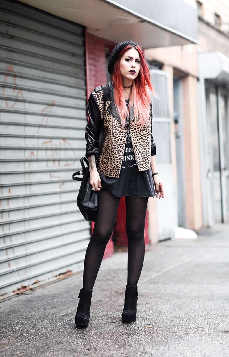 Le Happy wearing La Marque leopard jacket