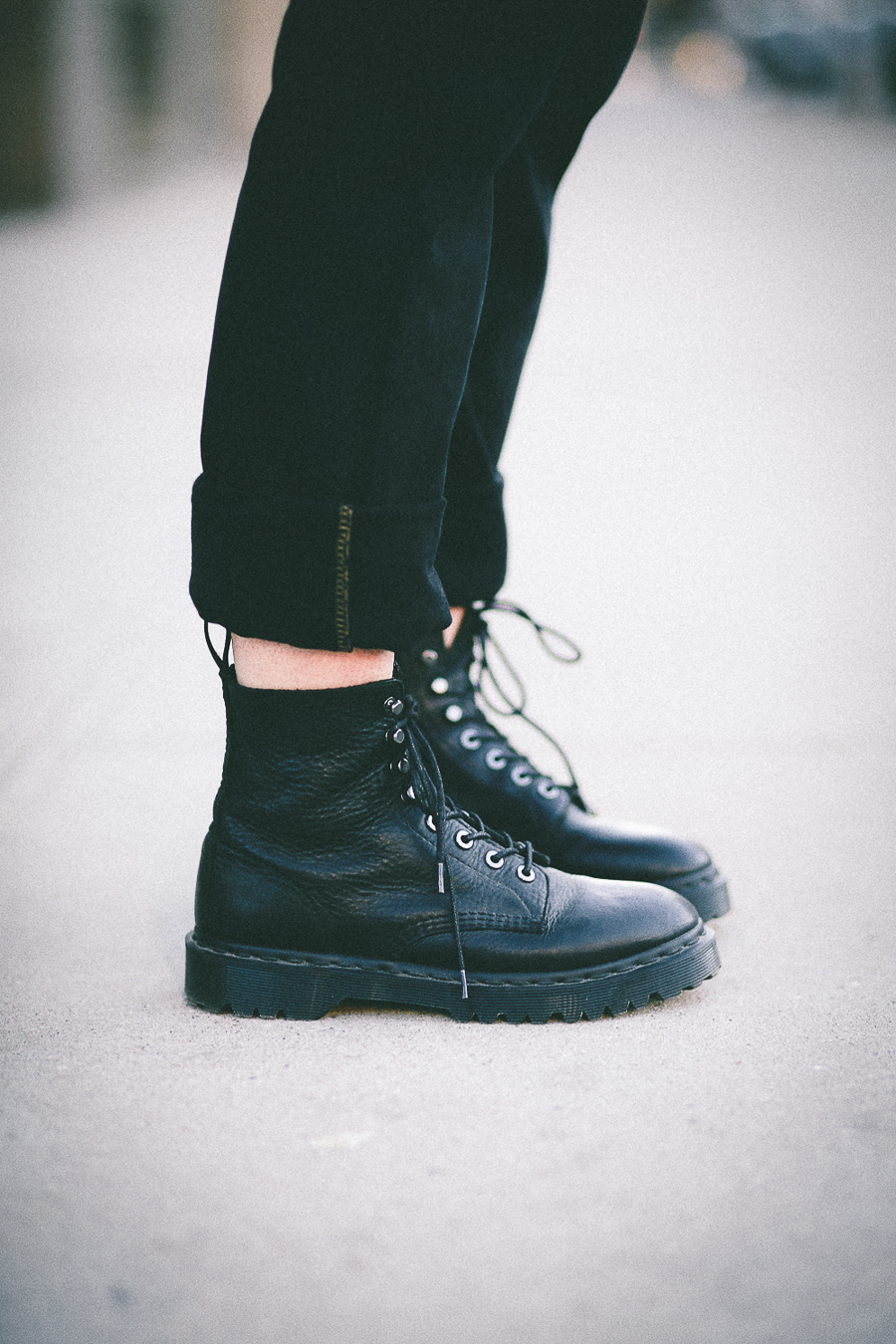 Le Happy wearing Dr Martens