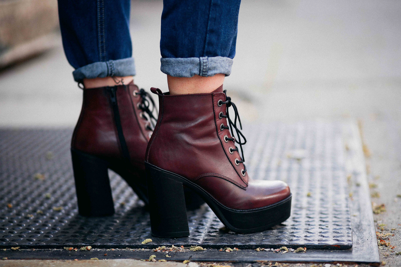 Le Happy wearing Steve Madden Booties