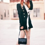 Le Happy wearing Balmain blazer and Chloe blouse
