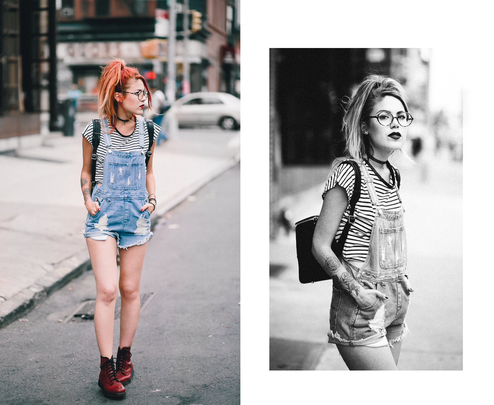 dc64e4319c4b Le Happy wearing red Dr Martens Newton and ASOS overalls