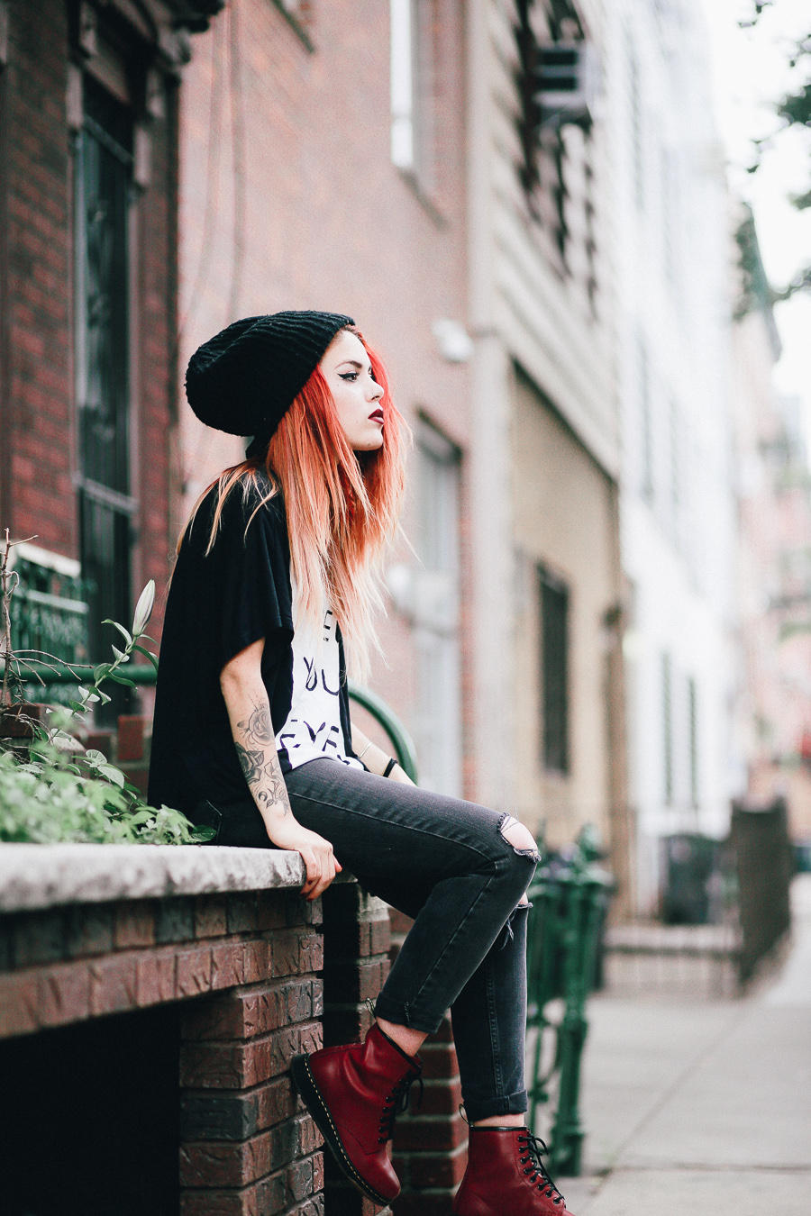 3769634ec618 Le Happy wearing 5PREVIEW t-shirt with Dr Martens Lite and ASOS jeans